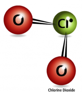 Chlorine dioxide molecule
