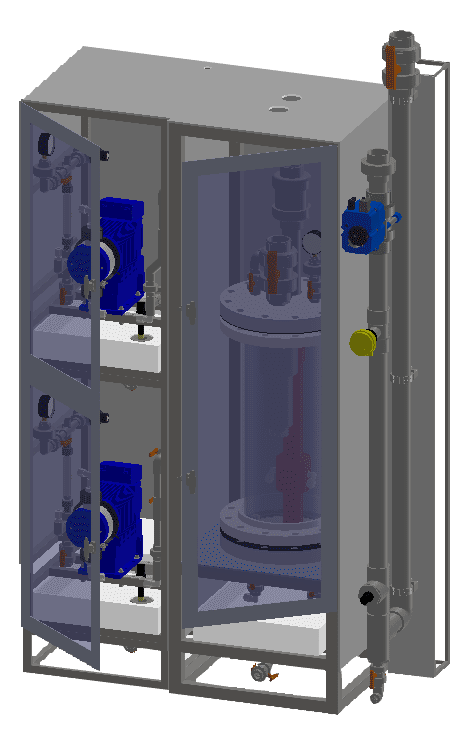 Submerged SC2 system (SubSC2) line of chlorine dioxide generators